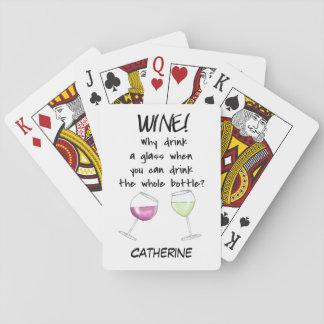 De Grappige Woorden die van de wijn Speelkaarten