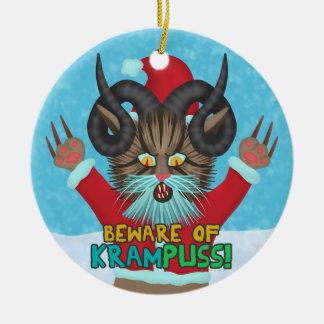 De grappige Woordspeling van het Vakantie van Rond Keramisch Ornament