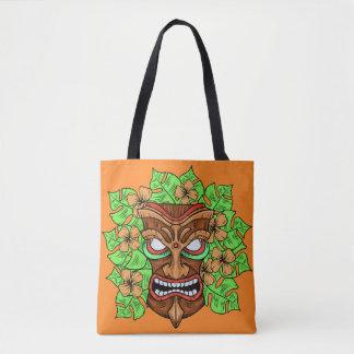 De grappige zakken van het Masker Tiki Draagtas