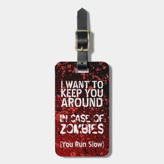 De grappige Zombieën | Apocalyps u stellen Kofferlabel