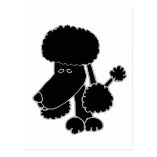 De grappige Zwarte Cartoon van de Hond van het Briefkaart