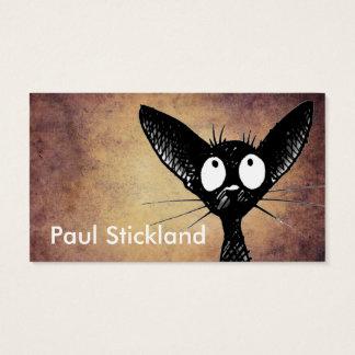 De grappige Zwarte Douane van de Kat Visitekaartjes