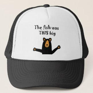 De grappige Zwarte draagt vertellend het Verhaal Trucker Pet