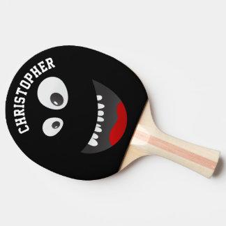 De grappige Zwarte Enge Gepersonaliseerde Naam van Tafeltennis Bat