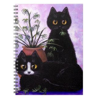 De grappige Zwarte Smoking Creationarts van Katten Notitieboek
