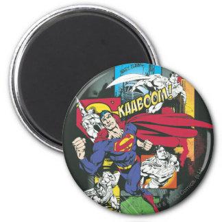 De Grappige Zwarte van de superman Koelkast Magneetje