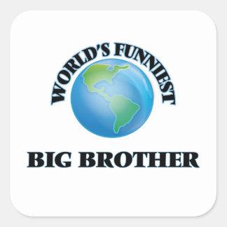 De Grappigste Grote Broer van de wereld Vierkante Sticker
