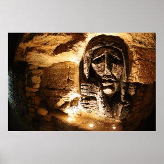 De Gravure van de Muur van de catacombe Poster