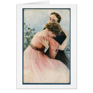De Greep van een Paar, Wenskaart