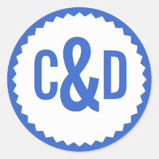 De Grens van de Zigzag van de Verbinding van twee Ronde Sticker