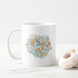 De grenzen vatten Waterverf samen Koffiemok