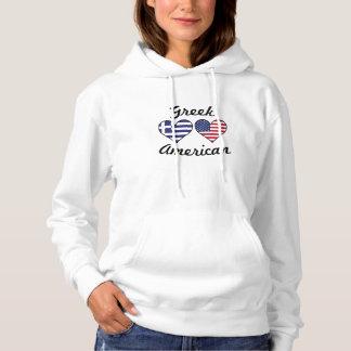 De Griekse Amerikaanse Harten van de Vlag Hoodie
