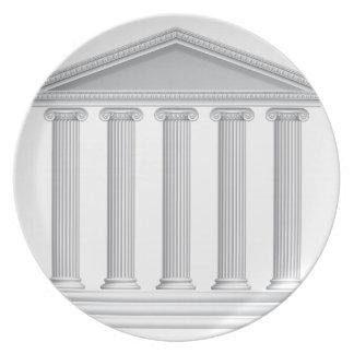 De Griekse of Roman Kolommen van de Tempel Party Bord