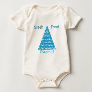 De Griekse Piramide van het Voedsel Baby Shirt