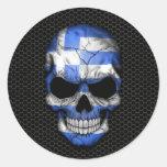 De Griekse Schedel van de Vlag op Grafische het Ronde Stickers
