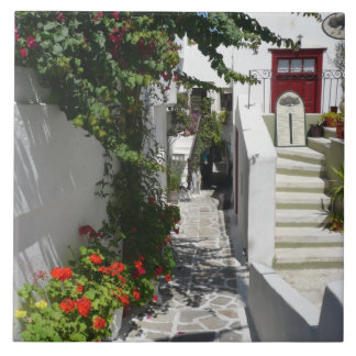 De Griekse Straat van het Eiland Tegeltje