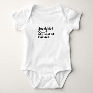 De Griekse T-shirt van Ampersand van het Voedsel