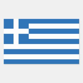 De Griekse Vlag van Griekenland/ Rechthoekige Sticker