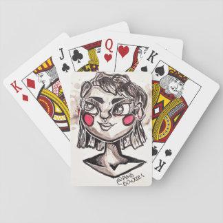 De griezelige Dame van de Knuppel Speelkaarten