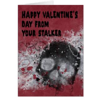 De griezelige Kaart van de Valentijnsdag Stalker