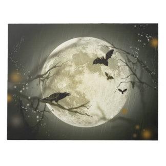 De Griezelige Kraaien van de Maan van Halloween Notitieblok