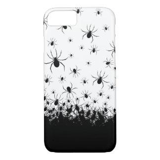 De griezelige spin teisterde zwart wit iPhone 8/7 hoesje