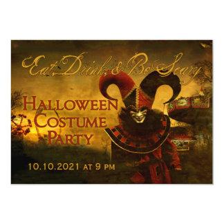 De griezelige Uitnodiging van Carnaval Halloween