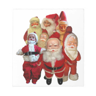 De griezelige Vintage Troep van de Kerstman Kladblokken