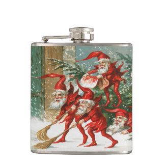 De griezelige VINYLFLES van Vintage Kerstmis van Heupfles