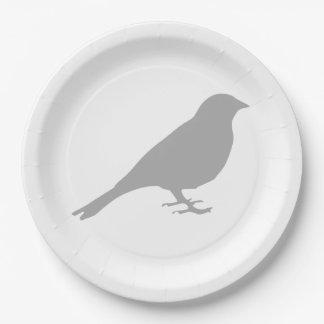 De grijze Borden van het Document van de Vogel Papieren Bordje