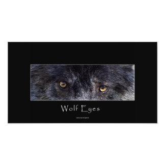 De grijze Druk van de Foto van het Wild van de Oge