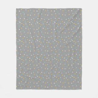 De grijze geometrische deken van de patroonVacht