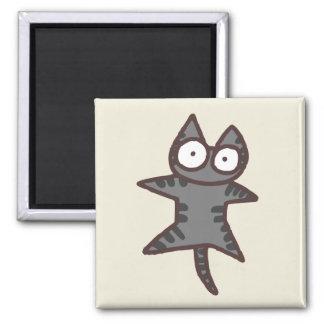 De grijze Kat van de Gestreepte kat Magneet