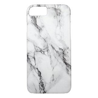 De grijze Marmeren Zwarte Barst van de Steen iPhone 7 Hoesje
