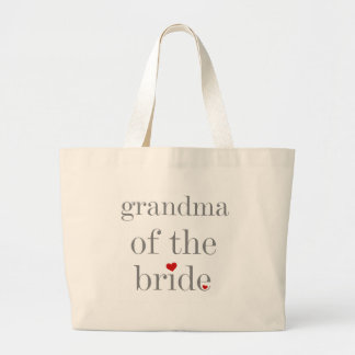 De grijze Oma van de Tekst van Bruid Grote Draagtas