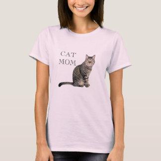 De grijze Roze T-shirt van het Mamma van de Kat