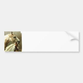 De grijze Sticker van de Bumper van het Paard Even