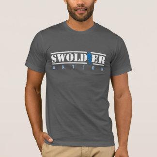 De grijze T-shirt van de Natie Swoldier