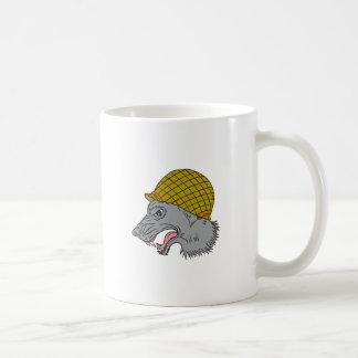 De grijze Tekening van de Helm van de Wolf Hoofd Koffiemok