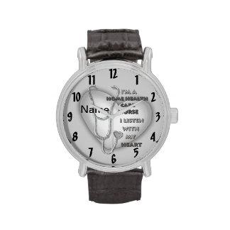 De grijze Verpleegster van de Gezondheidszorg van  Horloge