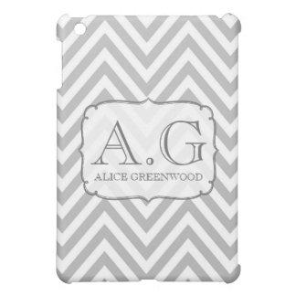 De grijze & Witte MiniDekking van het Monogram IPA iPad Mini Hoesje