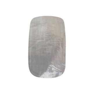 De grijze Zilveren Folie kijkt Minx het Art. van Nagelversiering