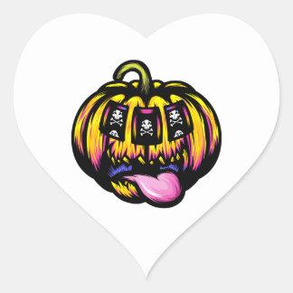 De Groef van de pompoen Hart Sticker