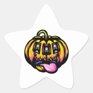 De Groef van de pompoen Ster Sticker