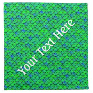 De Groenachtig blauwe Schalen van Falln Katoenen Servet