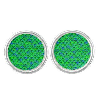 De Groenachtig blauwe Schalen van Falln Manchetknopen