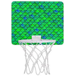 De Groenachtig blauwe Schalen van Falln Mini Basketbalbord