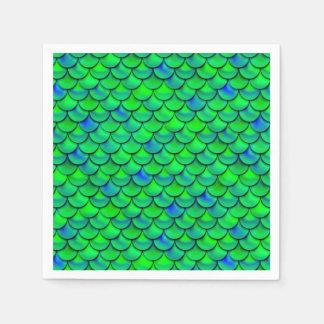 De Groenachtig blauwe Schalen van Falln Wegwerp Servet