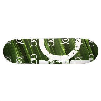 De groene abstracte tekst van metaallichten 18,1 cm old school skateboard deck