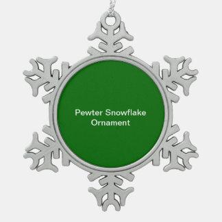 De Groene Achtergrond van het Ornament van de Snee Tin Sneeuwvlok Ornament